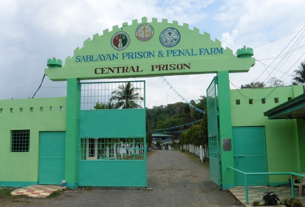 The main gate of Sablayan sub prison and penal farm